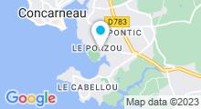 Plan Carte Centre aquatique l'Atlantide - Piscine à Concarneau