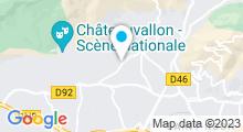 Plan Carte Piscine des Pins d'Alep à Toulon