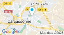 Plan Carte Espace aquatique Carcassonne Olympique - Piscine à Carcassonne