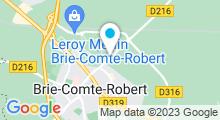 Plan Carte Centre nautique - Piscine à Brie Comte Robert