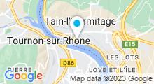 Plan Carte Centre aquatique Linaë - Piscine à Tain l'Hermitage