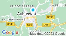 Plan Carte Centre aquatique - Piscine à Aubusson