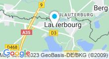 Plan Carte Plage des Mouettes à Lauterbourg