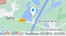 Plan Carte Plan d'eau au centre de plein-air Salmengrund à Seltz