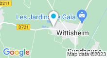 Plan Carte Plan d'eau de Wittisheim