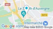 Plan Carte Centre de coaching aquatique Aquazenith à Cournon d'Auvergne