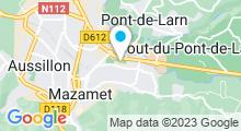 Plan Carte Complexe nautique - Piscine à Mazamet