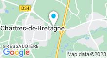 Plan Carte Piscine de la Conterie à Chartres de Bretagne