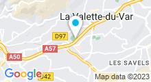 Plan Carte Piscine Leo Lagrange à Toulon