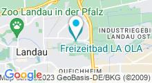Plan Carte Piscine La Ola à Landau in der Pfalz
