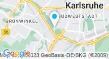 Plan Carte Piscine Europabad à Karlsruhe