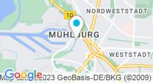 Plan Carte Piscine Sonnenbaden à Karlsruhe