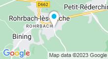 Plan Carte Centre aquatique - Piscine à Rohrbach-lès-Bitche