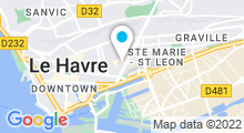 Plan Carte Piscine du Cours de la République Le Havre