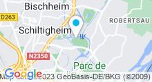 Plan Carte Piscine du Wacken à Strasbourg