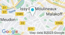 Plan Carte Piscine Aquazena à Issy-les-Moulineaux