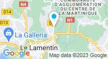 Plan Carte Centre Aquatique Communautaire - Piscine au Lamentin - Martinique
