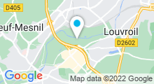 Plan Carte Complexe aquatique l'Emeraude - Piscine à Louvroil