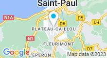 Plan Carte Centre nautique Josselyn Flahaut - Piscine à Plateau Caillou