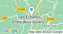 Plan Carte Base de loisirs Rivièr'Alp aux Echelles