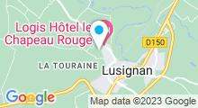 Plan Carte Pôle sportif Mélusin à Lusignan