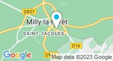 Plan Carte Centre aquatique des 2 Vallées Alain Bernard - Piscine à Milly-la-Forêt