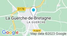 Plan Carte Piscine à la Guerche de Bretagne - Vitré Communauté
