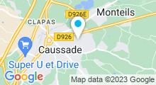 Plan Carte Espace aquatique Quercy'O - Piscine à Caussade