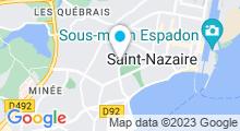 Plan Carte Centre aquatique de l'Estuaire Aquaparc - Piscine à Saint-Nazaire