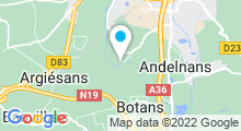 Plan Carte Centre aquatique du Parc à Belfort