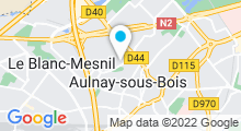Plan Carte Futur centre aquatique à Aulnay-sous-Bois