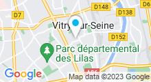 Plan Carte Futur centre aquatique à Vitry-sur-Seine