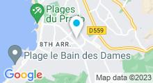 Plan Carte Piscine Bonneveine à Marseille
