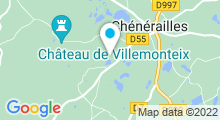 Plan Carte Les étangs de la Forêt à Chénérailles