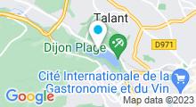 Plan Carte Lac de Kir à Dijon