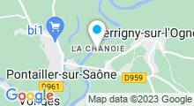 Plan Carte Base de Loisirs La Chanoie à Pontailler-sur-Saône