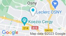 Plan Carte Piscine de la Ravinière à Osny