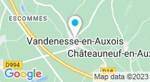 Plan Carte Lac de Panthier à Vandenesse-en-Auxois