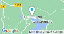 Plan Carte Lac des Settons à Montsauche Les Settons