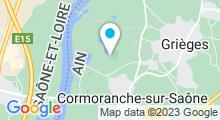 Plan Carte Base de Loisirs de Cormoranche-sur-Saône