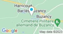 Plan Carte Plan d'eau de La Samaritaine à Buzancy
