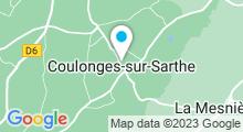 Plan Carte Base de Loisirs à Coulonges-sur-Sarthe