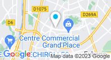 Plan Carte Piscine les Dauphins à Grenoble