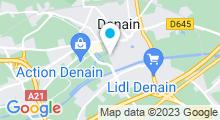 Plan Carte Futur centre aquatique à Denain