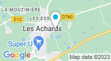 Plan Carte Centre aquatique du Pays des Achards - Piscine à La Mothe-Achard
