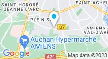 Plan Carte Centre aquatique Aqua Pôle d'Amiens
