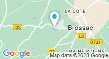 Plan Carte Piscine Étang Vallier à Brossac