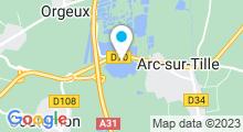 Plan Carte Base de loisirs d'Arc sur Tille