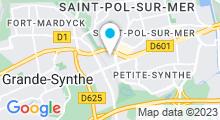 Plan Carte Piscine Georges Guynemer-Dunkerque à Saint-Pol-sur-Mer
