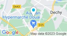 Plan Carte Centre Aquatique du Douaisi à Sin-le-Noble